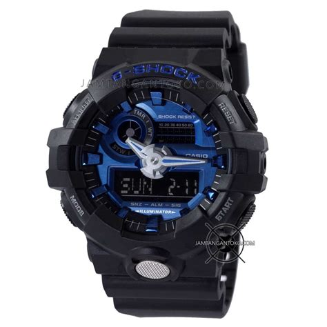 G Shock Casio Gpw1000 Black Blue Hitam Biru Jam Tangan Pria Gak Ad harga sarap jam tangan g shock ga 710 1a2 black blue metallic