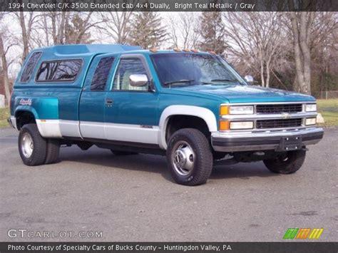 1994 chevrolet c k 3500 extended cab 4x4 dually interior bright teal metallic 1994 chevrolet c k 3500 extended cab 4x4 dually gray interior