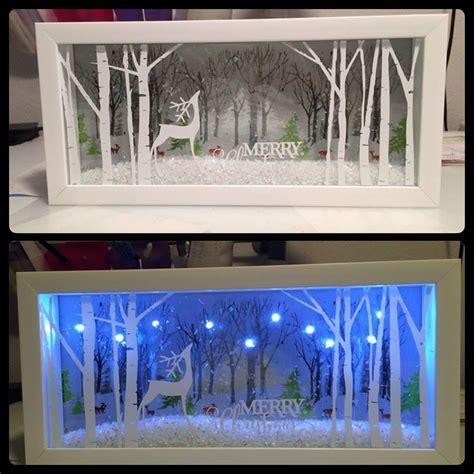 christmas lights craft ideas christmas shadow box idea clever crafts pinterest