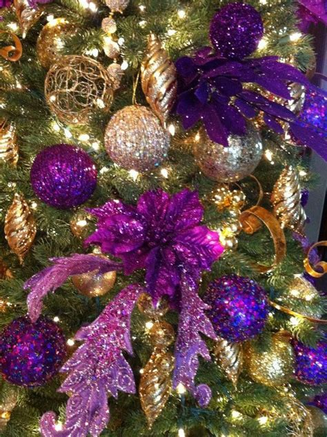 purple decorations for tree purple gold tree bobby did it