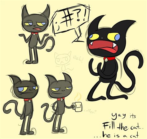 cat characters more fil the freaking random cat character i made by waffle on deviantart