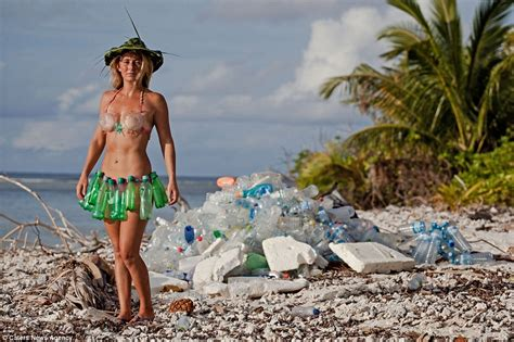 Swimsuit Made From Plastic Bottles by Maldive Photos Show Mountains Of Plastic Bottles Washed Up