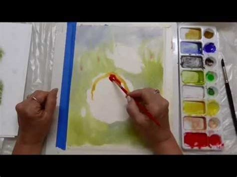 watercolor tutorial part 1 watercolor poppies tutorial part 1 youtube