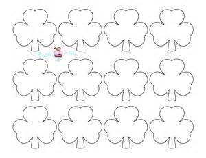shamrock templates printable bird on a cake st s day shamrock cupcake toppers
