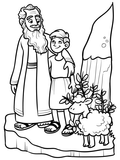 coloring page of abraham and isaac abraham and isaac coloring pages 139 education