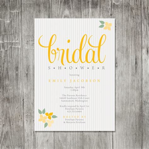 bridal shower invitations etsy template best template