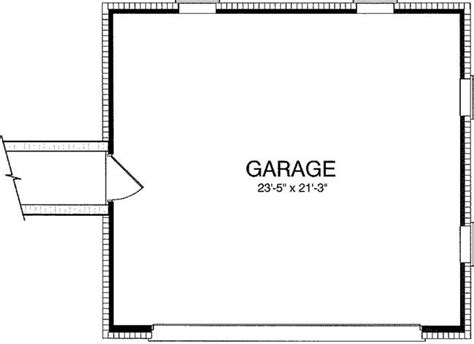garage floor plan 0 bedroom 0 bath traditional house plan alp 094r