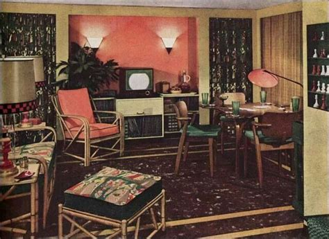 1950s Home Decor by 1950 S Living Room D 233 Cor 1940s 1950s Home Design