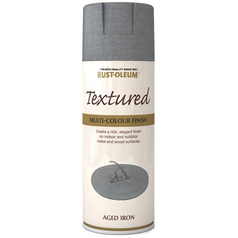 rust oleum textured multi colour finish aged iron spray
