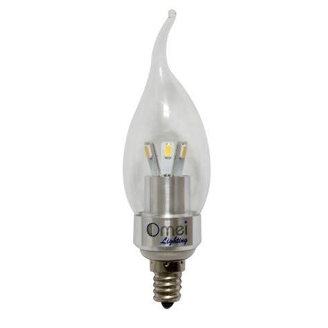 led 3w light bulb e12 candelabra base cool white 6000k