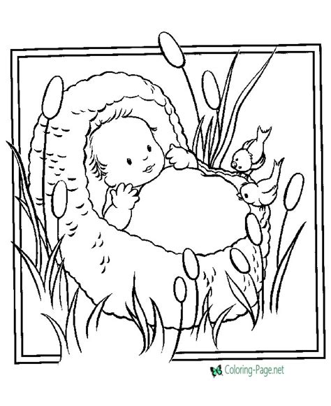 name christian coloring pages christian coloring pages baby moses
