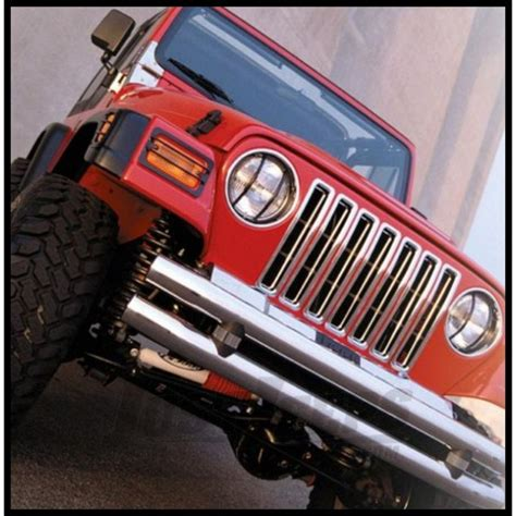 rugged ridge grill inserts jeep parts buy rugged ridge chrome grille inserts 1987 95 wrangler yj for ca 62 95 justjeeps