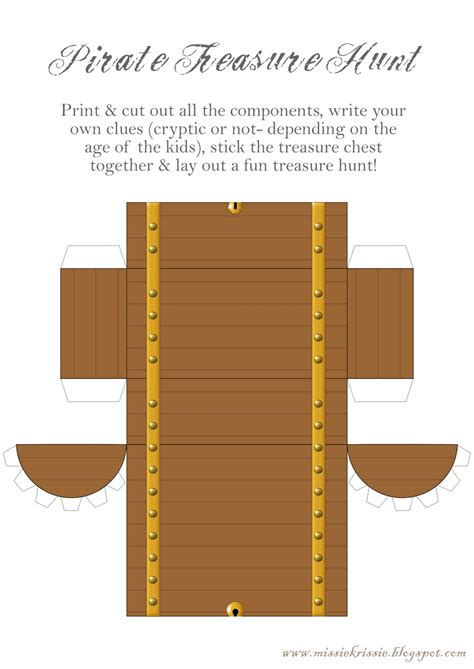 pirate treasure chest template missie krissie tueday freebies treasure hunt time