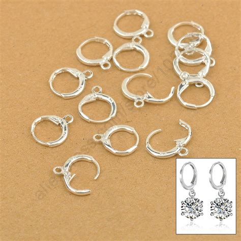jewelry components hoop drop earrings jewelry findings 20pcs 10pair real