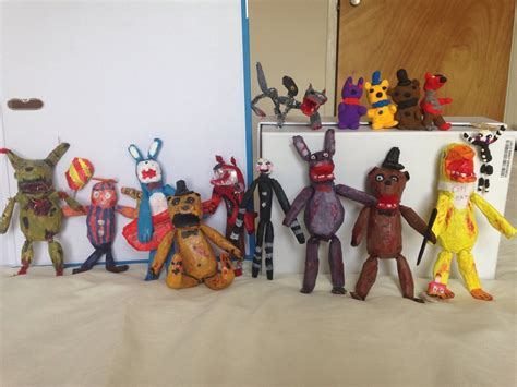 five nights at freddy s figures five nights at freddy s figures by cjdrawsstuff on deviantart