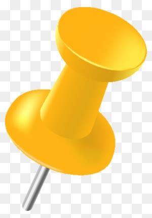 pin yellow clip art bullet points clip art