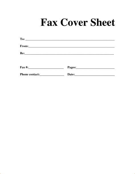 12 exle of fax cover sheet template basic