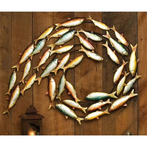 fish decor for home metal fish wall decor 200141 wall art at sportsman s guide