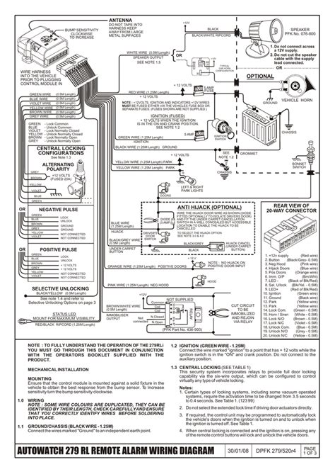 auto car alarm wiring diagram wiring diagram with