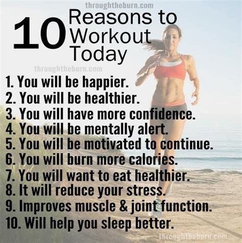 10 Reasons To Work by 10 Reasons To Workout Today