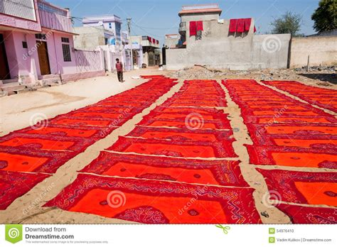 color handmade textile on place editorial image image 54976410