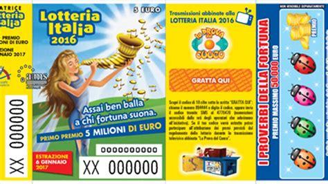 premi consolazione lotteria italia lotteria italia 2017 2 categoria