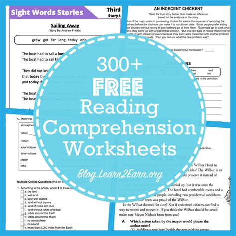 Reading Comprehension Worksheets For 4th Grade Choice by 4th Grade Reading Comprehension Worksheets Choice