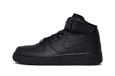 Nike Air 1 Mid All Black nike air 1 mid gs quot all black quot 314195 004 314195 004 sklepkoszykarza pl