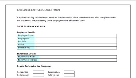 clearance form template best photos of employment exit forms employee exit