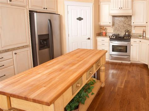 butcher block kitchen island table butcher block kitchen islands hgtv