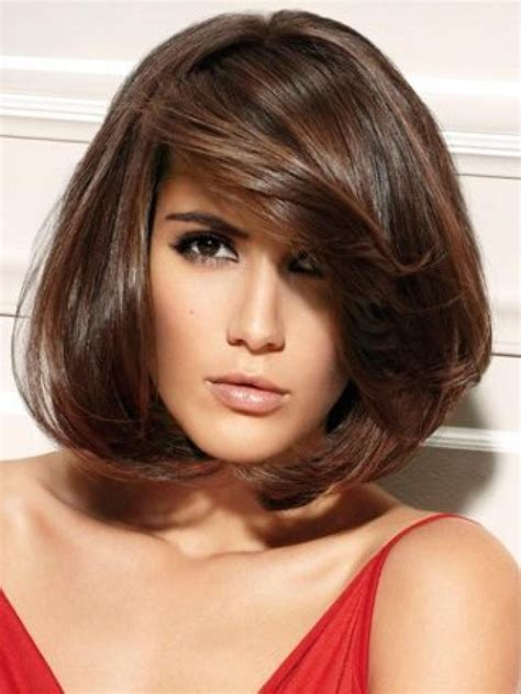 Hairstyles Bangs Pictures by Pictures Of Medium Length Bob Haircuts With Bangs