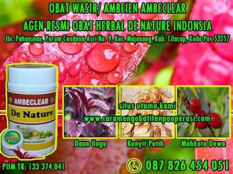 Ambeclear By Herbal De Nature jual obat wasir herbal ambeclear de nature