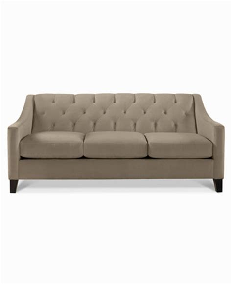 velvet tufted sofa only at macy s furniture macy s