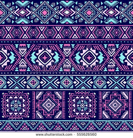 seamless aztec pattern multicolor vector seamless pattern abstract shapes stock