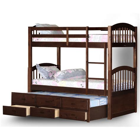 twin bunk bed with trundle wildon home 174 arthur twin bunk bed with trundle and