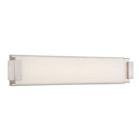 Modern Bathroom Led Lighting Brushed Nickel Led Bathroom Light Vertical Or Horizontal