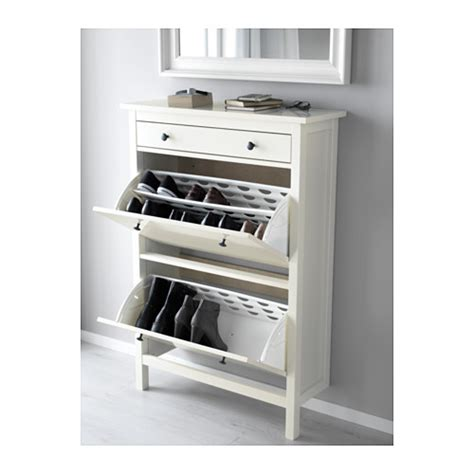 hemnes shoe cabinet ikea hemnes shoe cabinet with 2 compartments white 89x127 cm ikea