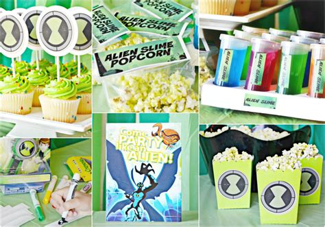 ben 10 printable party decorations the ultimate ben 10 party inexpensive party ideas brie