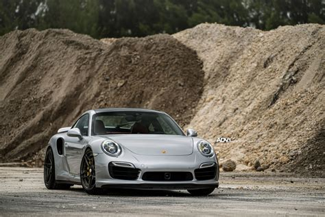 silver porsche silver porsche 911 turbo s adv05s m v2 cs centerlock wheels