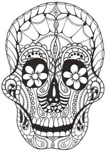 day of the dead skull coloring pages larch studios dia de los muertos coloring books