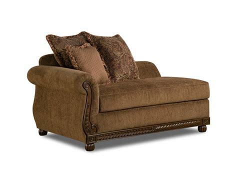 chocolate chaise united furniture outback chocolate simmons chaise the