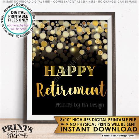 retirement sign happy retirement sign retirement
