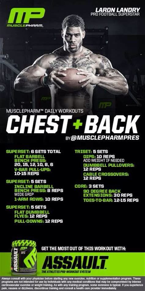 chest back musclepharm workouts