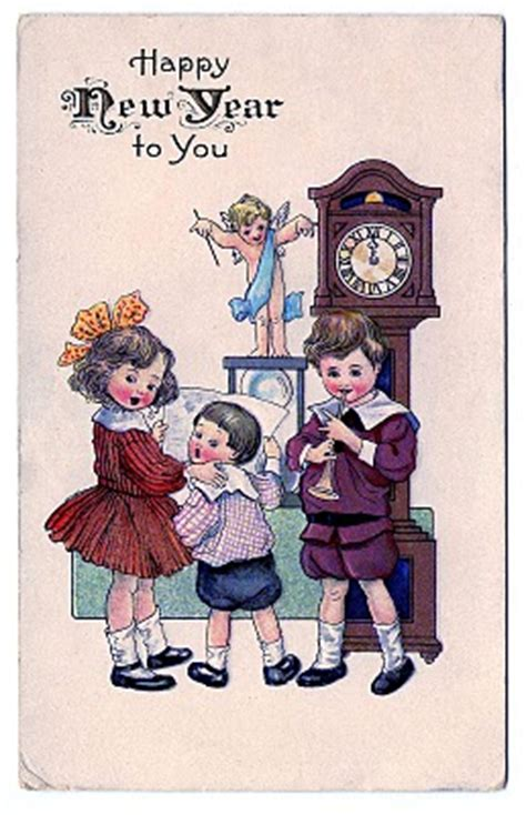 vintage  year clip art children  cupid  graphics fairy