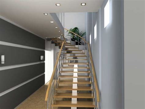 basement stairs with various railing styles silo