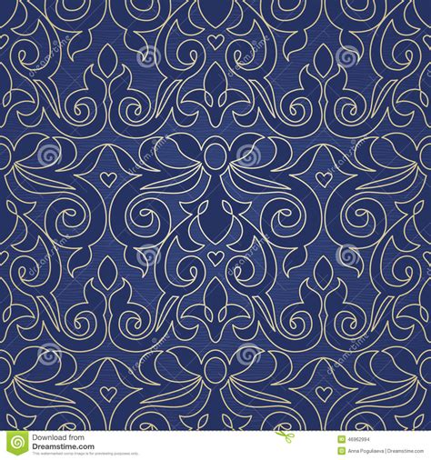 victorian design elements vector vector seamless pattern in victorian style stock vector