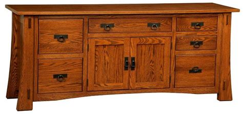 Storage Credenza Office Furniture Amish Modesto Mission Credenza With File Drawers