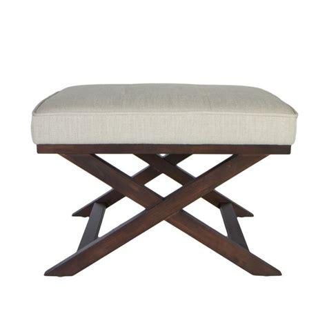 X Bench Ottoman Traditional Cross Legs Ari Beige Linen X Bench Ottoman By Cortesi Home Traditional Great