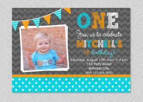 boys 1st birthday invitation chevron polka by thetrendybutterfly