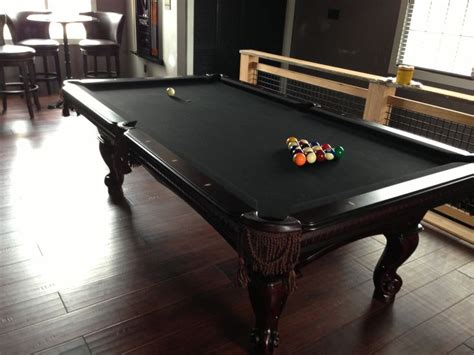 custom black felt pool table farm flat